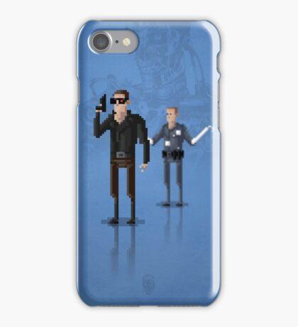 8-Bit TV Terminator iPhone Case/Skin