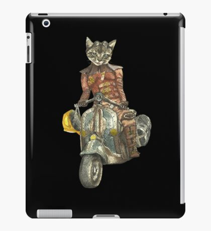 Vintage Motorcycle Cat with Goggles iPad Case/Skin