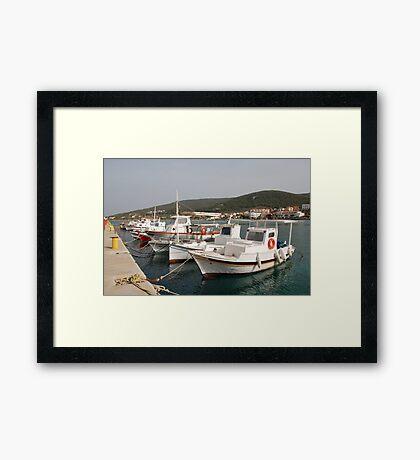 Milos harbour, Agistri Framed Print