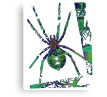 Arachnophilia-Green Canvas Print