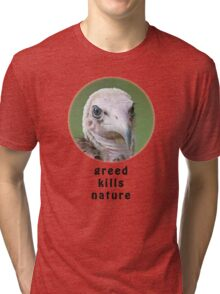 Hooded Vulture for Nature Tri-blend T-Shirt
