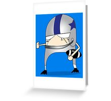 Football Cartoon Chibi Cowboys Greeting Card