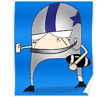 Football Cartoon Chibi Cowboys Poster