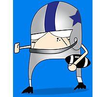 Football Cartoon Chibi Cowboys Photographic Print