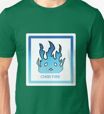 Chibi Fire 5 Light Blue Unisex T-Shirt
