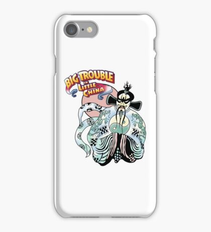 Big Trouble In Little China & Lo Pan HD White iPhone Case/Skin