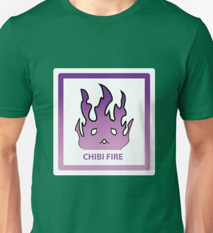 Chibi Fire 6 Purple Unisex T-Shirt