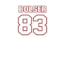 NFL Player Ted Bolser eightythree 83 Photographic Print