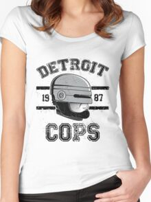 Cops team Women's Fitted Scoop T-Shirt