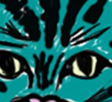 one very blue cat Sticker