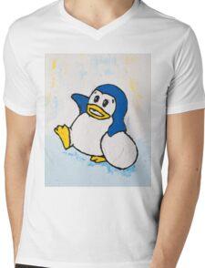 Penguin Land Mens V-Neck T-Shirt