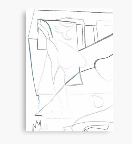 Abstract Cubism Canvas Print