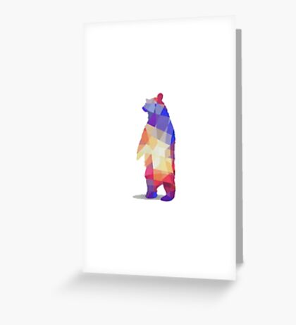 Geometry Bear T-Shirt Greeting Card