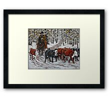 Living The Dream, Roundin' Up Yearlings Framed Print