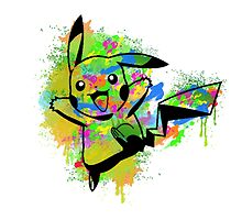 Cute Pikachu Spraypaint Graffiti Tshirts + More! by Jonny2may