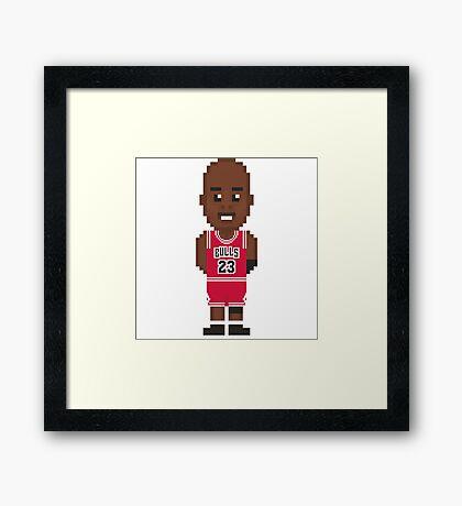 Michael Jordan - Chicago Bulls 96' Framed Print