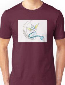 Vaporeon: On the moon! Unisex T-Shirt