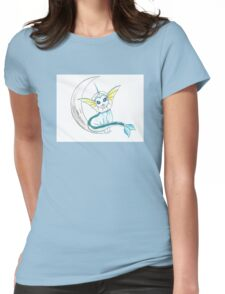 Vaporeon: On the moon! Womens Fitted T-Shirt