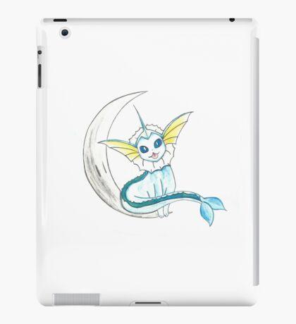 Vaporeon: On the moon! iPad Case/Skin