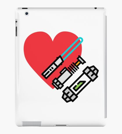 Love lightsaber iPad Case/Skin
