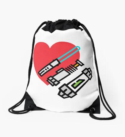 Love lightsaber Drawstring Bag