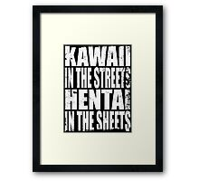 Kawaii in the Streets... (WHITE) Framed Print