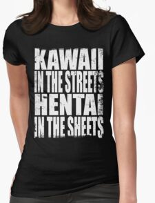 Kawaii in the Streets... (WHITE) Womens Fitted T-Shirt