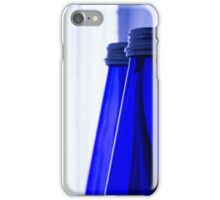 Blue water bottle iPhone Case/Skin
