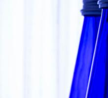 Blue water bottle Sticker