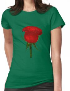 red rose1 Womens Fitted T-Shirt