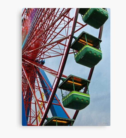 Cedar Point - Giant Wheel Cabins Canvas Print