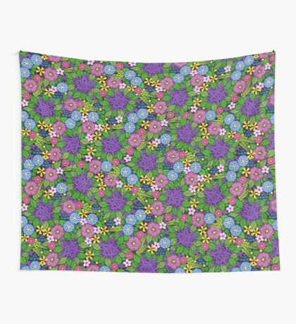 Wild Wildflowers Wall Tapestry