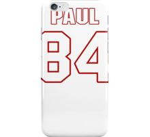 NFL Player Niles Paul eightyfour 84 iPhone Case/Skin