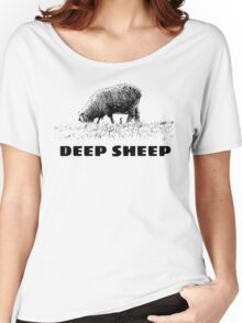 cool hipster funny random deep sheep illustration t shirts Women's Relaxed Fit T-Shirt
