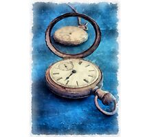 Time Watercolor Photographic Print