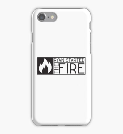 the office tv show lyrics funny ryan started the fire t shirts iPhone Case/Skin