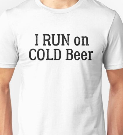 funny beer drinking party running sport cool t shirts Unisex T-Shirt