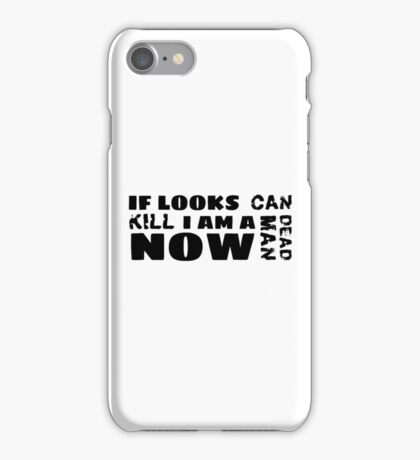 funny sarcastic movie quotes cool hipster typography t shirts iPhone Case/Skin