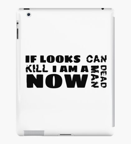 funny sarcastic movie quotes cool hipster typography t shirts iPad Case/Skin