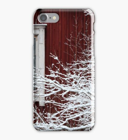 17.1.2017: Abandoned House Behing Snowy Branches iPhone Case/Skin