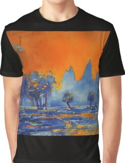 Angkor Wat Sunrise- Watercolor Painting Graphic T-Shirt