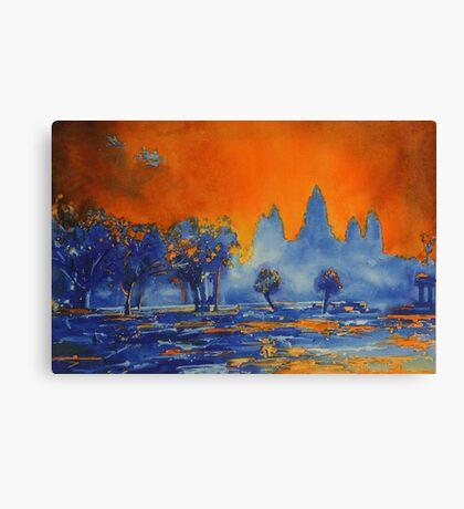 Angkor Wat Sunrise- Watercolor Painting Canvas Print