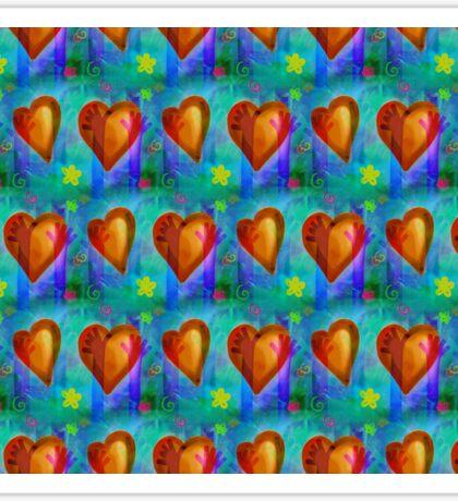 Wallpaper with heart 16 Sticker
