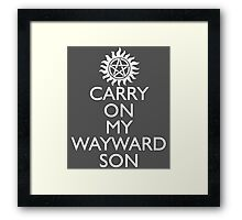 SUPERNATURAL UNOFFICIAL THEME SONG SAM AND DEAN WINCHESTER Framed Print
