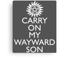 SUPERNATURAL UNOFFICIAL THEME SONG SAM AND DEAN WINCHESTER Canvas Print