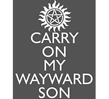 SUPERNATURAL UNOFFICIAL THEME SONG SAM AND DEAN WINCHESTER Photographic Print