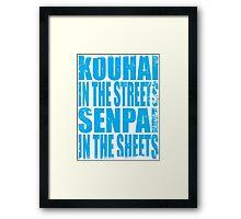Kouhai in the Streets... (BLUE) Framed Print