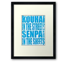 Kouhai in the Streets... (BLUE) Framed Print