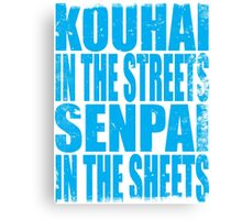 Kouhai in the Streets... (BLUE) Canvas Print