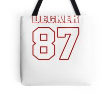 NFL Player Eric Decker eightyseven 87 Tote Bag